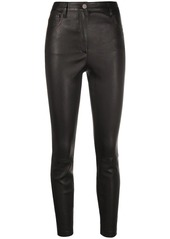 Theory slim-fit leather trousers