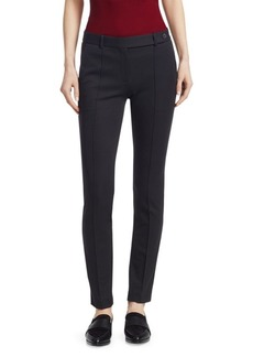 Theory Slim-Fit Pintuck Ankle-Length Pants