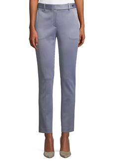 Theory Slim Straight-Leg Linear Knit Trousers