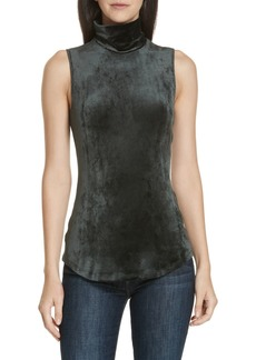 Theory Slim Velour Knit Tank