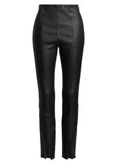 Theory Slit-Cuff Leather Leggings