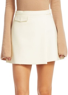 Theory Snap Wrap Mini Skirt