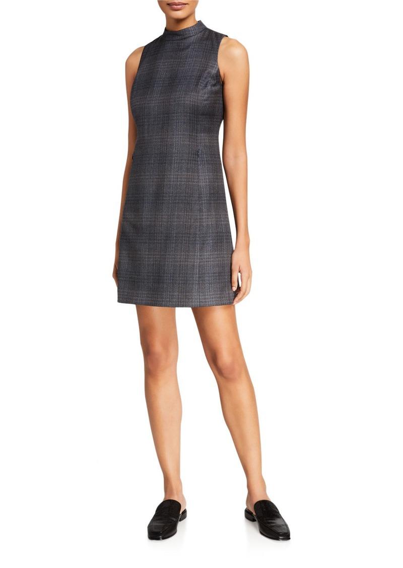Theory Soft Plaid Wool Mod Dress