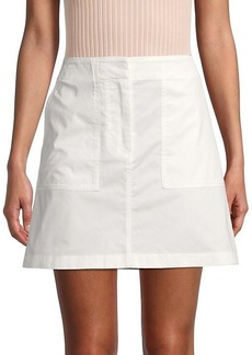 Theory Solid A-Line Skirt