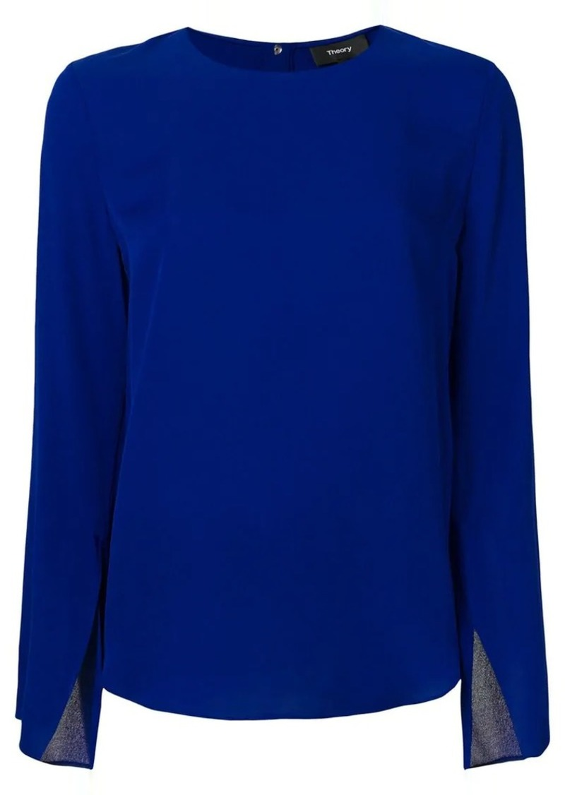 Theory split sleeve blouse