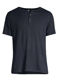 Theory Standard-Fit Essential Short-Sleeve Henley