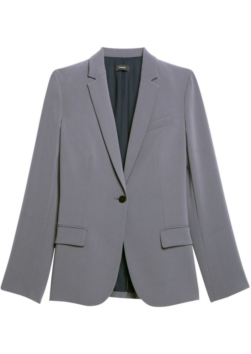 Theory Staple Classic Crepe Single-Button Blazer