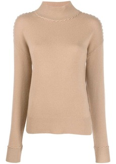 Theory cashmere stitch detail jumper