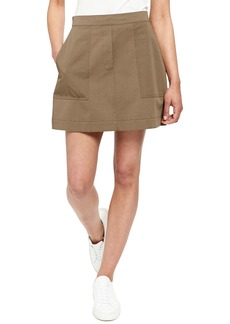 Theory Stitched Pocket A-Line Mini Skirt