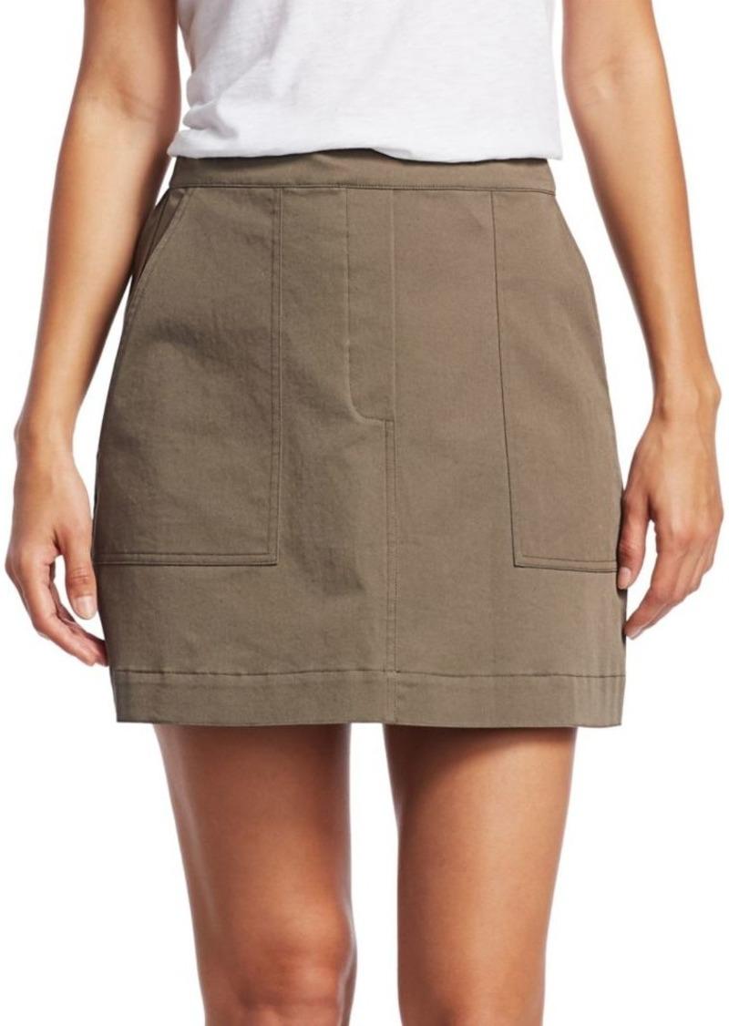 Theory Stitched Pocket A-Line Skirt