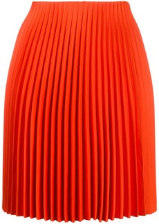 Theory straight fit pleated skirt