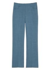 Theory Straight-Leg Chambray Trousers