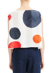 Theory Straight Polka Dot Cropped Twill Top
