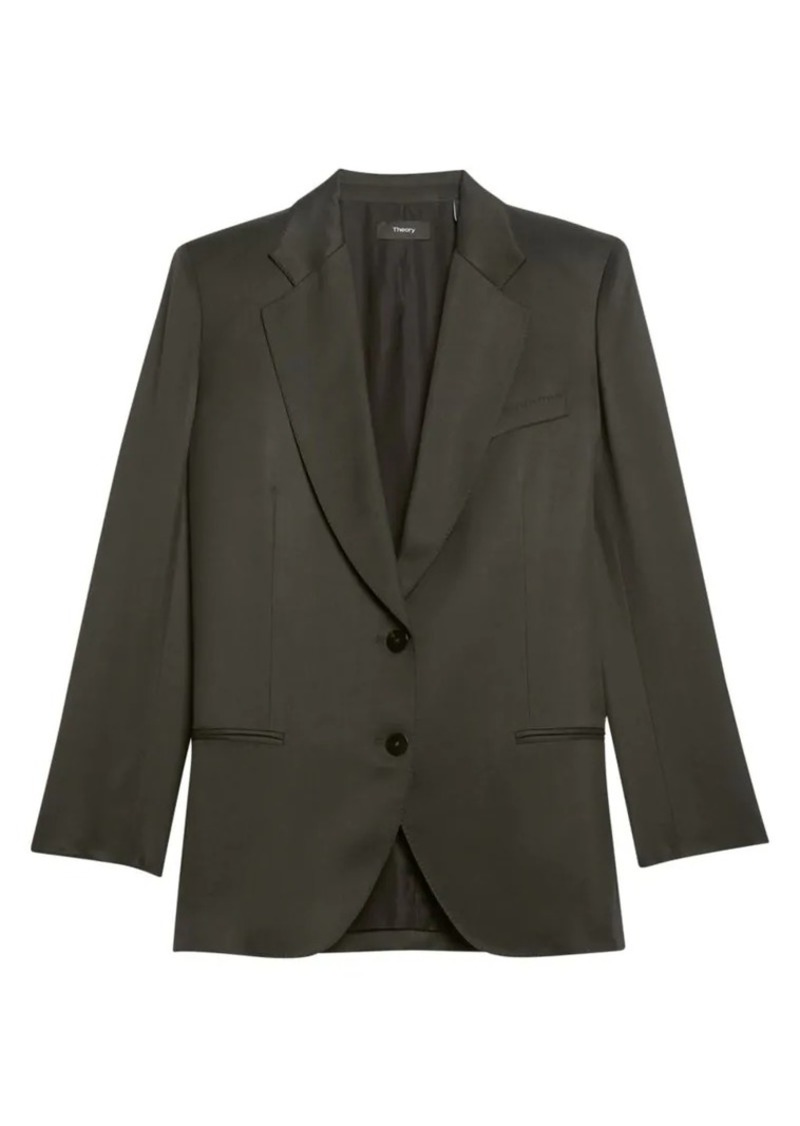 Theory Sleek Twill Straight Blazer