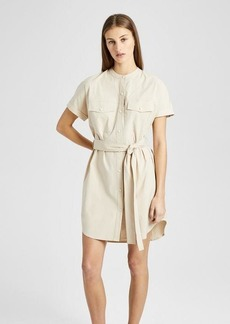 Theory Stretch Cotton Belted Cargo Dress
