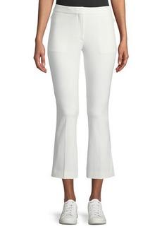 Theory Stretch-Cotton Cropped Kick-Flare Pants