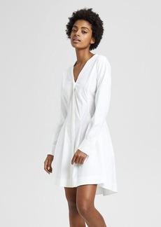 Theory Stretch Cotton Darted Dress