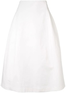Theory stretch cotton tulip skirt