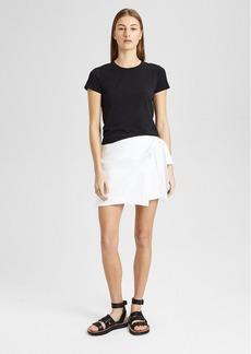 Theory Stretch Cotton Wrap-Tie Skirt