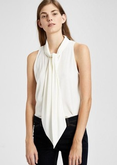 Stretch Crepe Scarf Halter Top