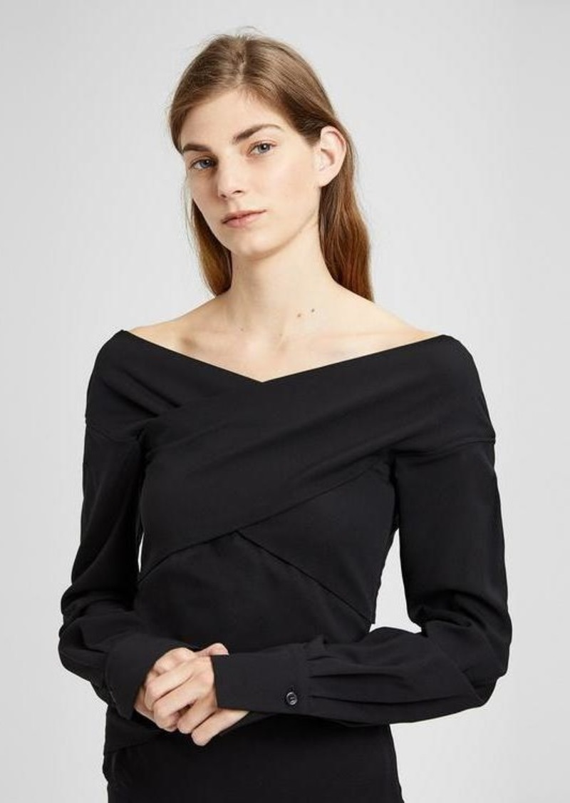 Theory Stretch Crepe Wrapped Top
