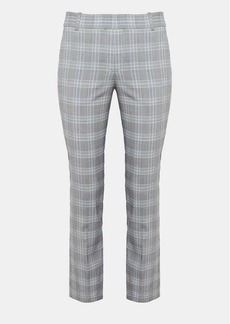 Theory Stretch Plaid Straight Trouser