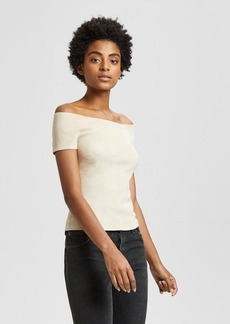 Theory Stretch Suede Ballet Top