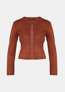 Theory Stretch Suede Fitted Jacket