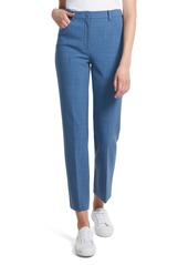 Theory Stretch Twill Straight-Leg Ankle Pants