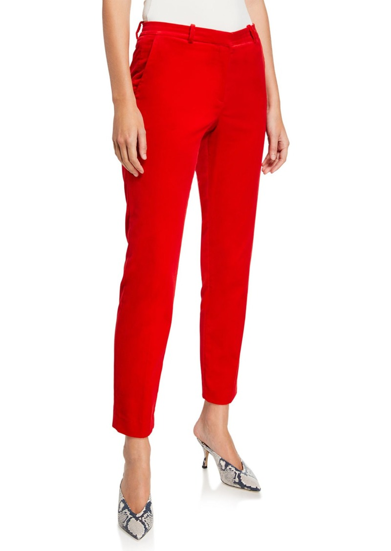 Stretch Velvet Tailored Trousers