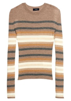Theory Stripe Cashmere Sweater
