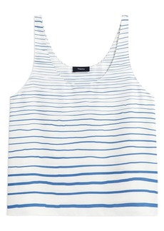 Theory Stripe Silk Tank Top