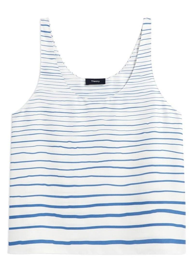Stripe Silk Tank Top