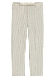 Theory Striped Ankle Crop Pants