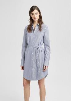 Theory Striped Clean Shirt Dress