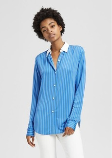 Theory Striped Essential Button-Down Shirt