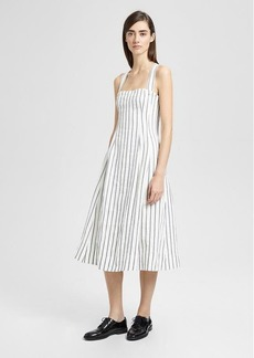 Theory Striped Linen Bustier Sun Dress