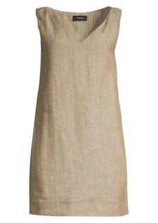 Theory Striped Linen Shift Dress