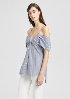 Theory Striped Off-The-Shoulder Top