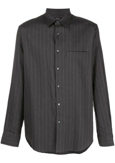 Theory striped-print long-sleeved shirt