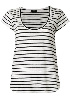 Theory striped scoop neck T-shirt