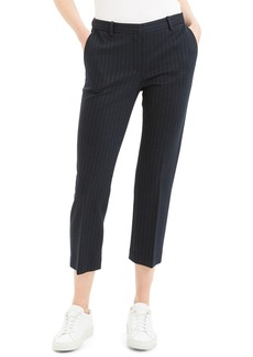 Theory Striped Tailored Cropped Trousers