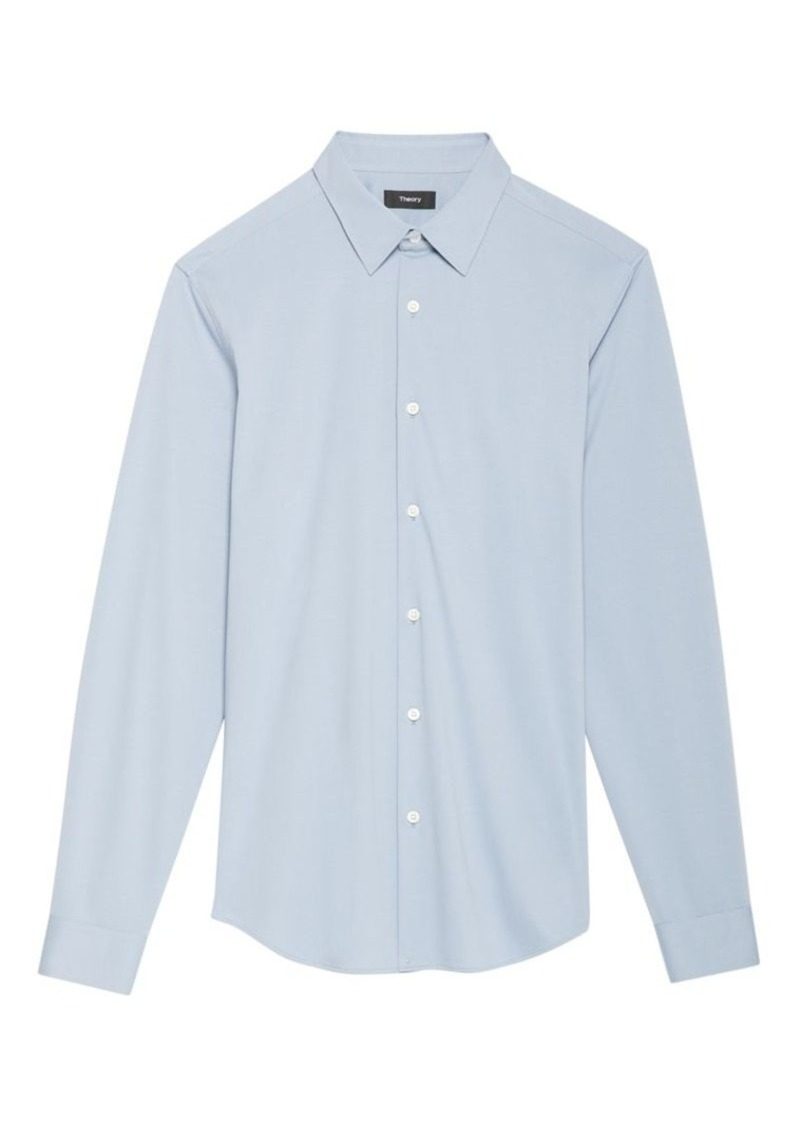 Theory Sylvain Solid Button-Down Shirt