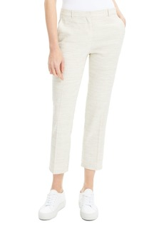 Theory Tailor Sharkskin Cropped Ankle Trousers