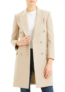 Theory Tailored Double-Breasted Wool Coat