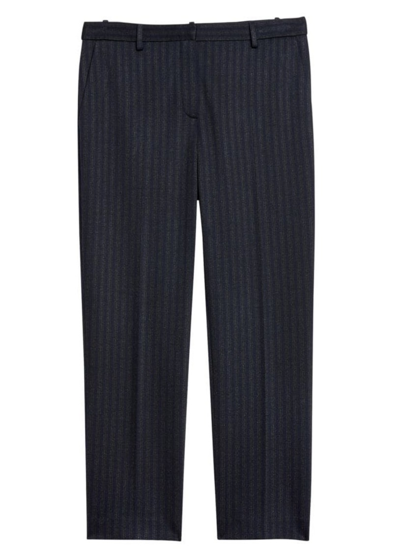 Theory Tailored Pinstripe Crop Trousers