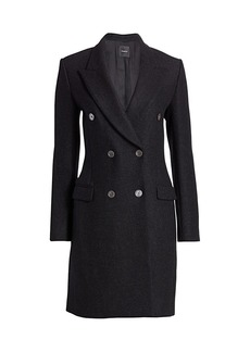 Theory Tailored Wool Double-Breasted Coat