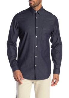 Theory Tait Indigo Denim Slim Fit Shirt