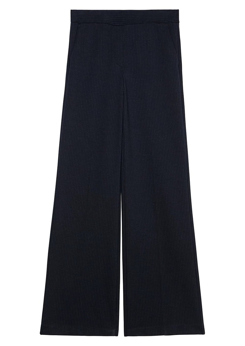 Theory Talbert Fairfield Pinstripe Wide-Leg Pants