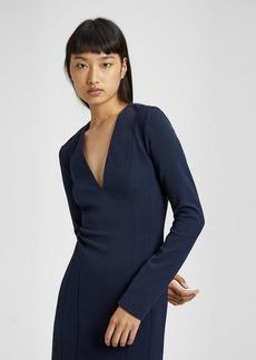 Theory Technical Knit V Neck Mini Dress